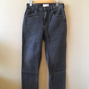 Washed black Cheeky Straight Jeans. Regular length